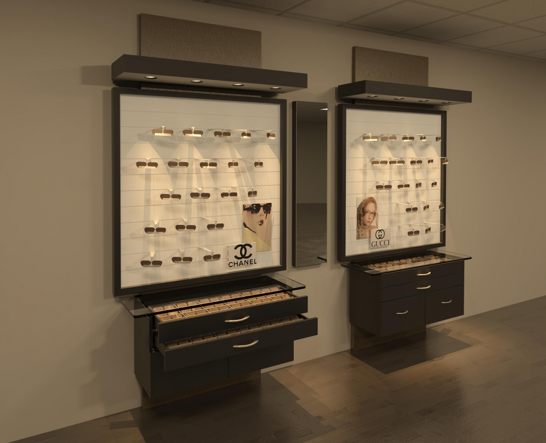 Optometry Office Furniture, optical displays, Contempora
